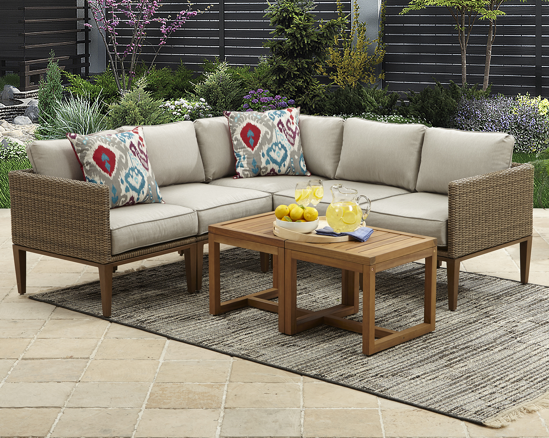 Better Homes and Gardens Davenport 7-Piece Outdoor Sectional Sofa Set