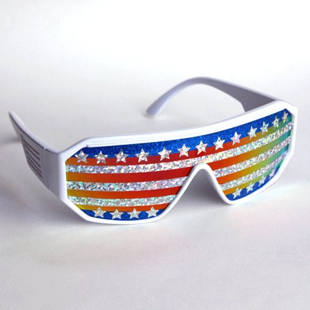Macho Man American Flag Sunglasses Randy Savage Costume Wrestler Wrestling Party