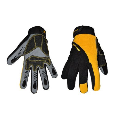 Ford Racing Mechanics Gloves - G & F 1089L Hyper Grip Non-Slip High-Performance Mechanic Work Gloves, Driving Gloves, Large