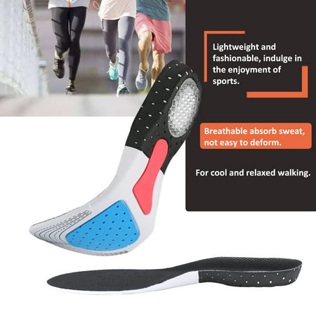 Foot Arch Support Sport Shoe Pad Running Gel Insoles Insert Cushion Insole Sneakers Pad Sweat-absorption and Flash Drying Foot Care