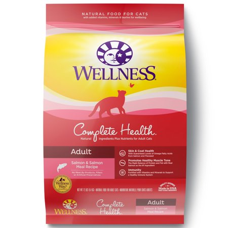 Wellness Complete Health Salmon Meal & Deboned Turkey Recipe Dry Cat Food, 12 lb