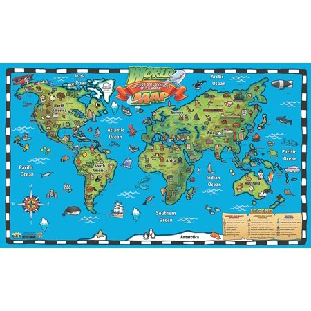 Popar kids world map interactive wall chart with free app walmart popar kids world map interactive wall chart with free app gumiabroncs