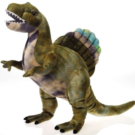 Fiesta Toys Spinosaurus Standing Dinosaur 18'' Inches My Green Dino Stuffed Plush Animal Pet