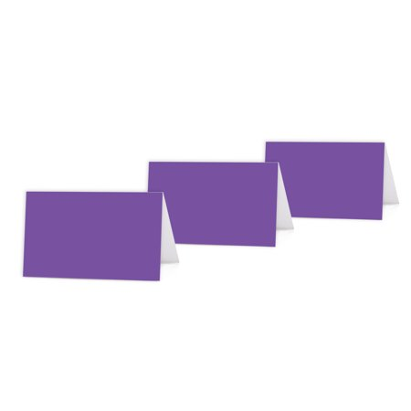 Purple Color Blank Table Tent Printable Place Cards 20 Pack