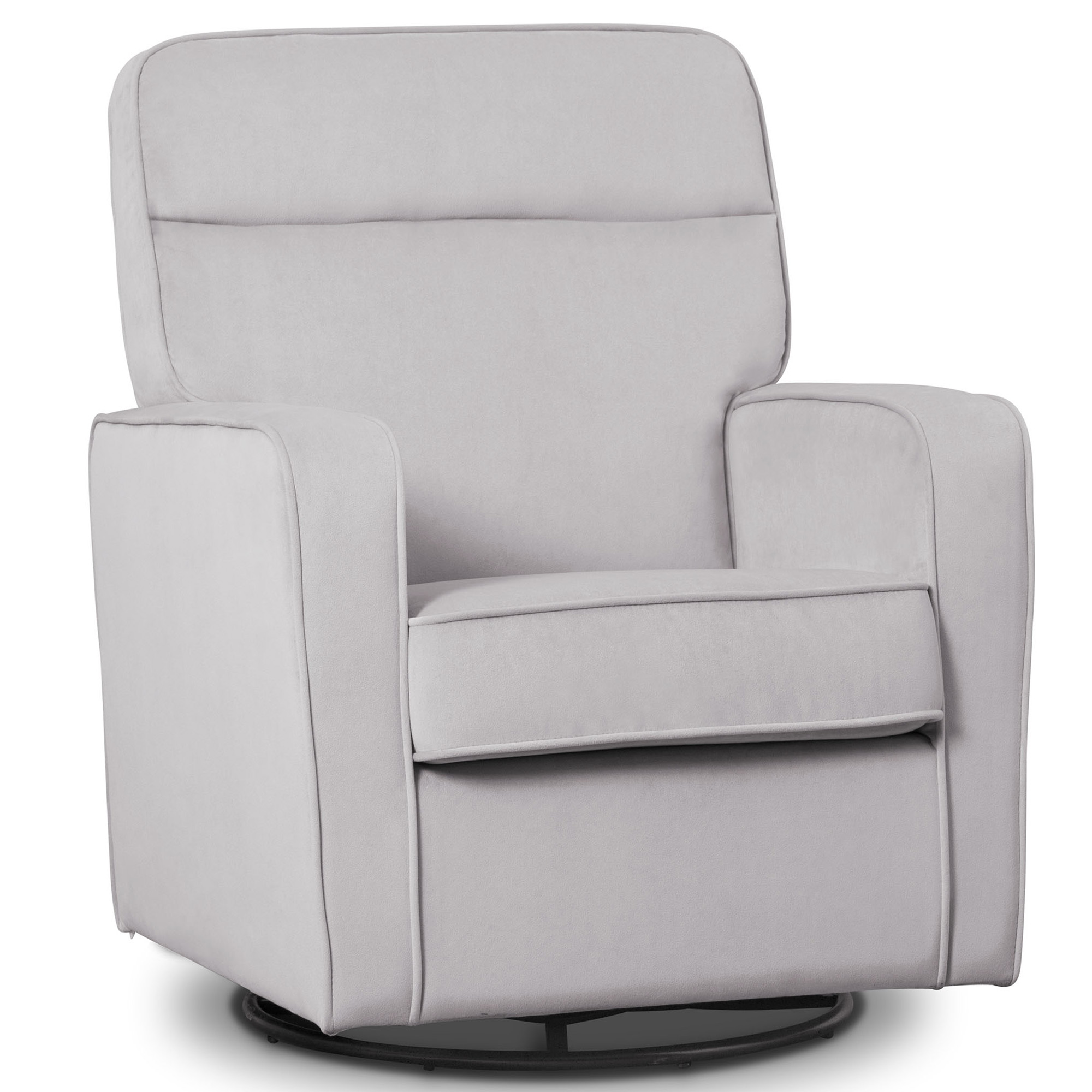 Delta Children Willow Nursery Glider Swivel Rocker Chair Featuring LiveSmart Fabric by Culp, Linen
