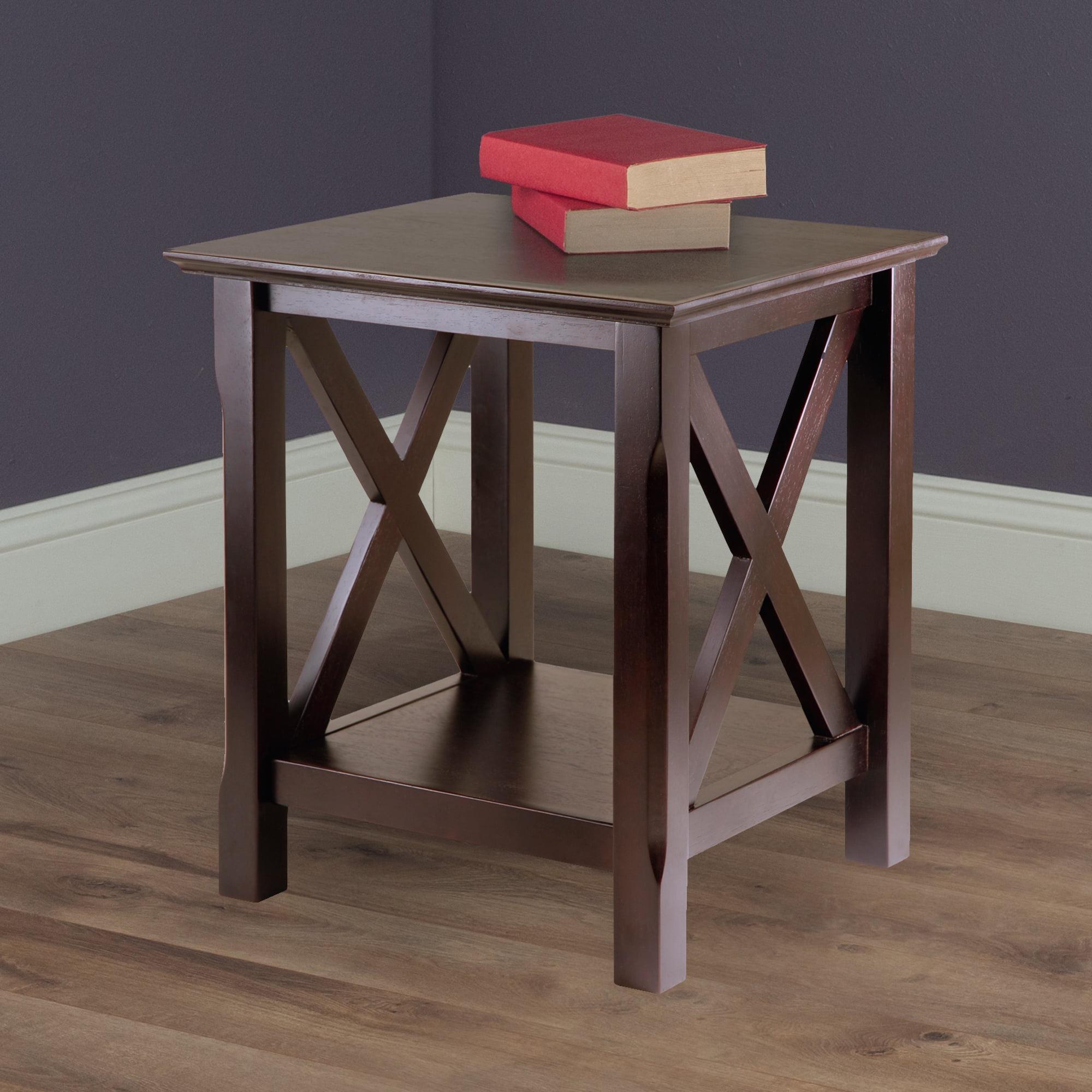Miraculous Winsome Wood Xola X Panel End Table Cappuccino Walmart Com Spiritservingveterans Wood Chair Design Ideas Spiritservingveteransorg