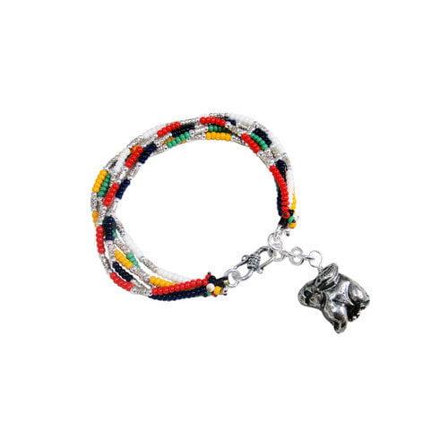Vivian Yang Liu Li Art Chinese Zodiac Rabbit Charm Bracelet