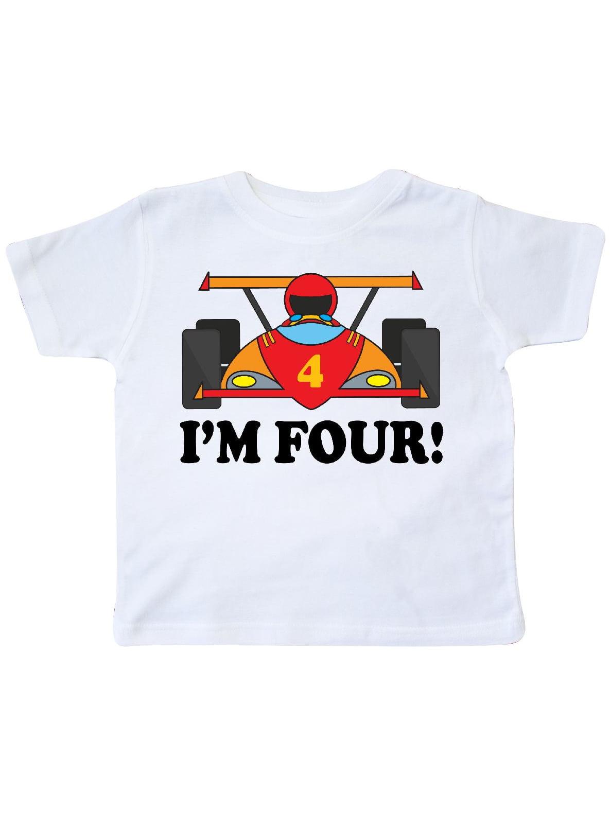Race Car 4th Birthday Toddler T-Shirt