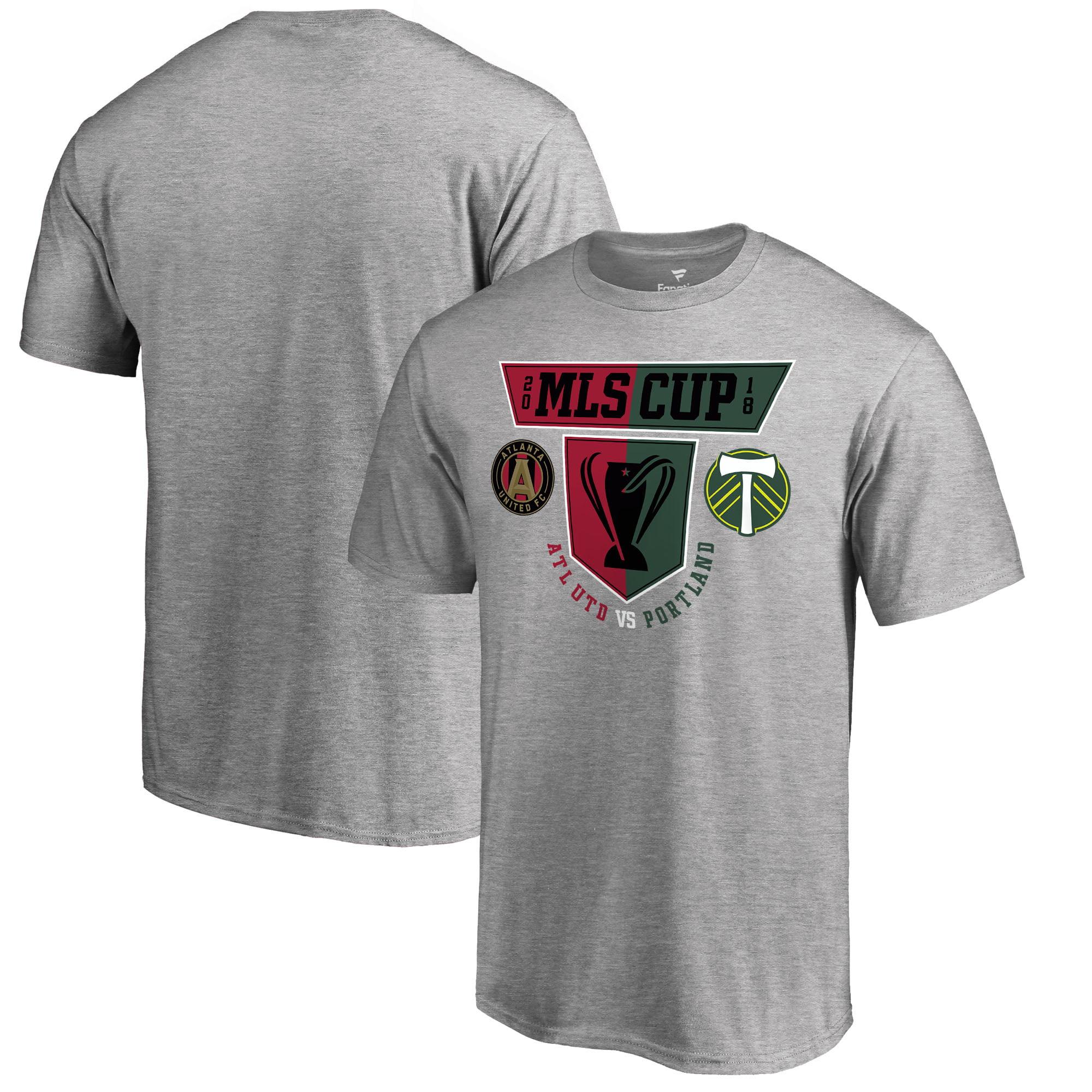 Atlanta United FC vs. Portland Timbers Fanatics Branded 2018 MLS Cup Matchup T-Shirt - Heather Gray