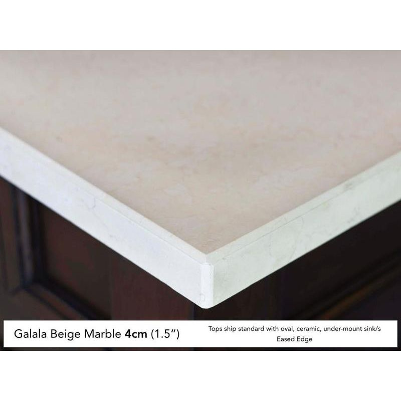 James Martin 030-S60S-GLB 1-Vanity Top Only w/Eased Edge Galala Beige Marble