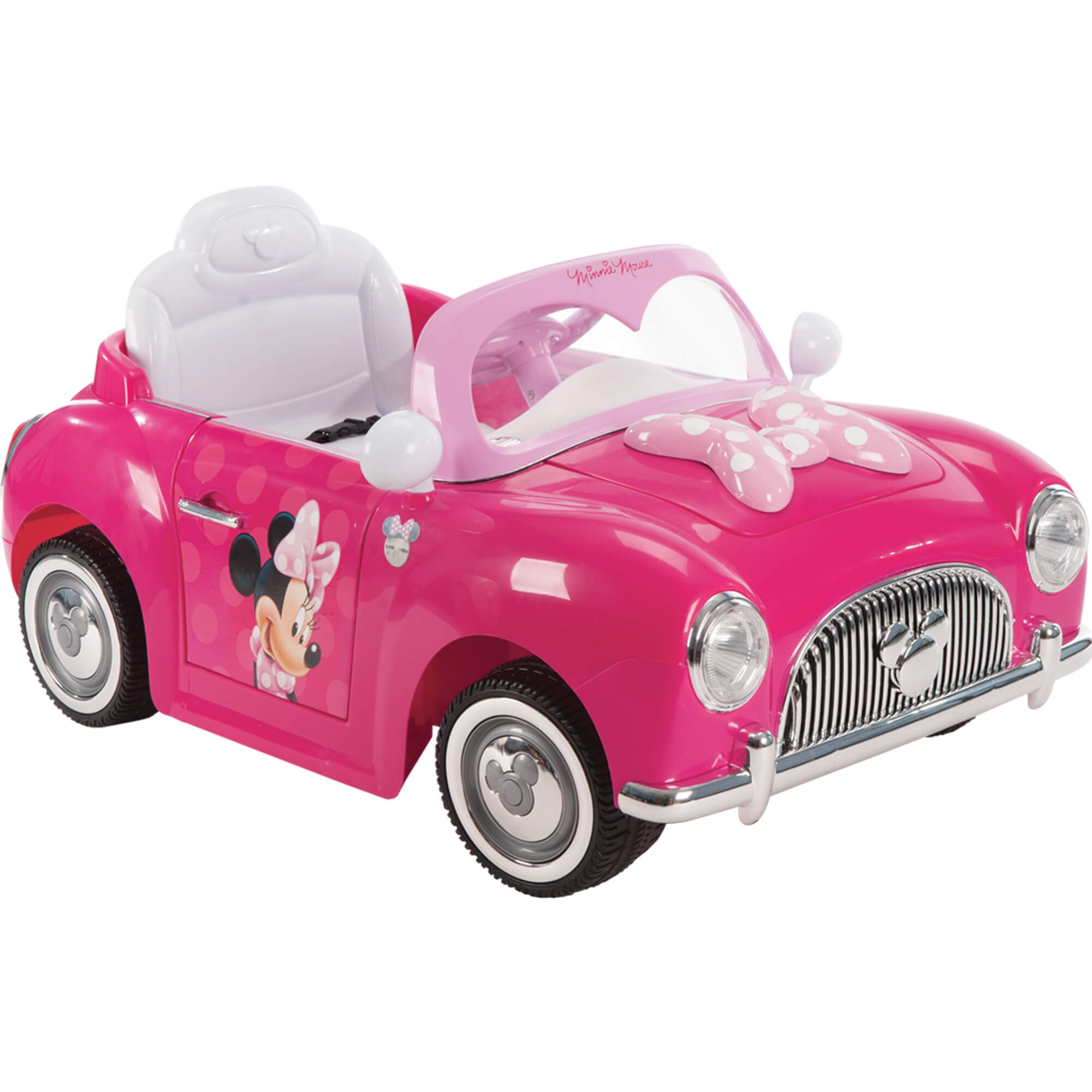 Disney Minnie Girls\' Battery-Power 6-volt Electric Ride On Car, by ...
