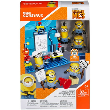 Mega Construx Despicable Me 3 Minion Strike Figure Pack](Despicable Me Minion Toys)