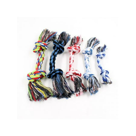 Lavaport Pet Rope Toys Dog Puppy Cotton Braided Teeth Clean Tug Chew knot -