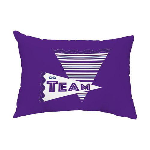 Zoomie Kids Hungerford Go Team! Indoor/Outdoor Lumbar Pillow