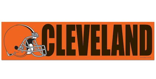 Cleveland browns decal bumper sticker
