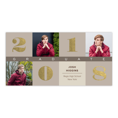 Classic Cubes Graduation Announcement (Halloween Pregnancy Announcements)