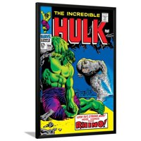 Marvel Comics Retro: The Incredible Hulk Comic Book Cov... Lamina Framed