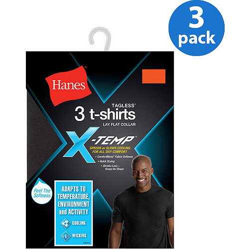 Hanes Men's FreshIQ X-Temp Dyed Crew Neck T-Shirt 3-Pack