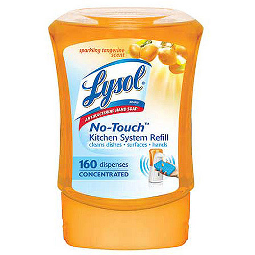 lysol no touch kitchen soap system refill tangerine scent 8 5 oz rh walmart com Walmart Refill Lysol Soap Dispenser Walmart Refill Lysol Soap Dispenser