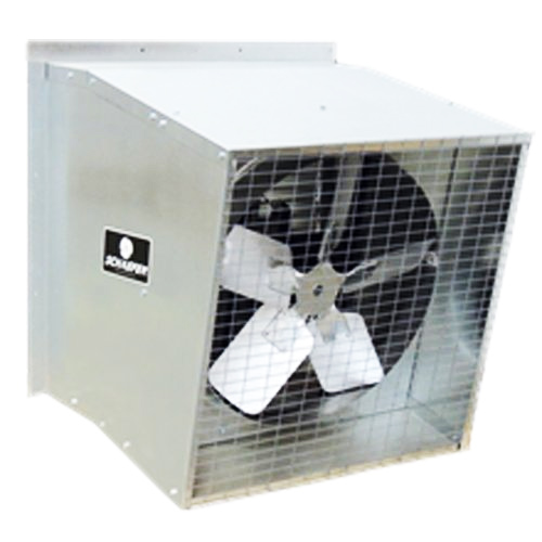 Schaefer 545S112G-3 27400 CFM 1.5 HP 54-Inch Belt Drive Slant Wall Exhaust Fan by PCT CLIMATE