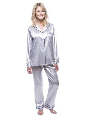 Noble Mount Women's Classic Satin Pajama Set
