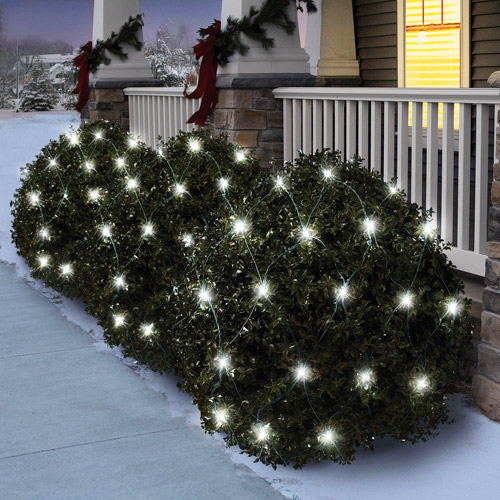 Holiday Time LED White Chasing Net Christmas Lights, 80-Count