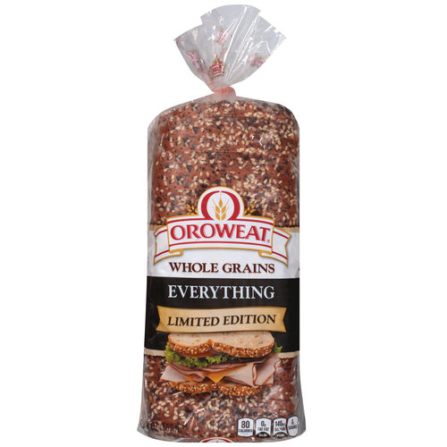 Oroweat Everything Limited Edition Whole Grains Bread, 20 oz