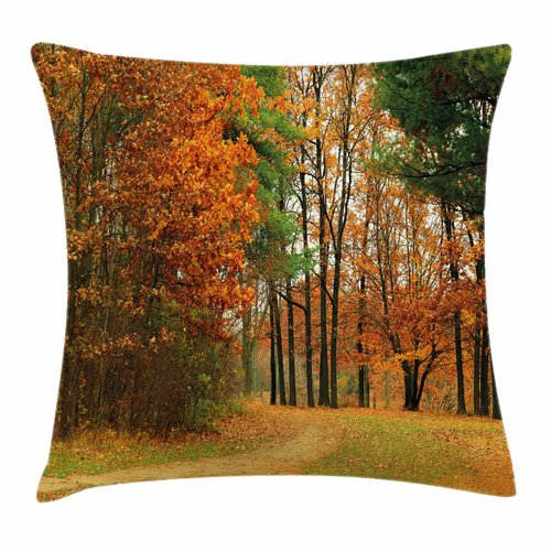 Click here to buy Ambesonne Fall Decor Cloudy Day September Square Pillow Cover by Kozmos.