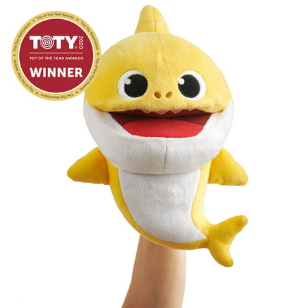 Pinkfong Baby Shark Official Song Puppet with Tempo Control - Baby Shark - Interactive Preschool Plush Toy - By WowWee