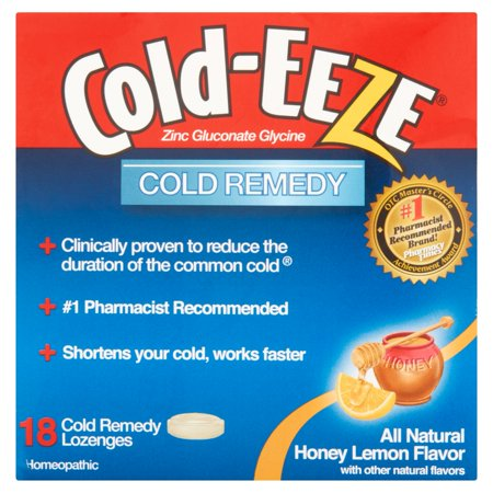 Cold Eeze Cold Remedy All Natural Honey Lemon Flavor Lozenges  18 Ct