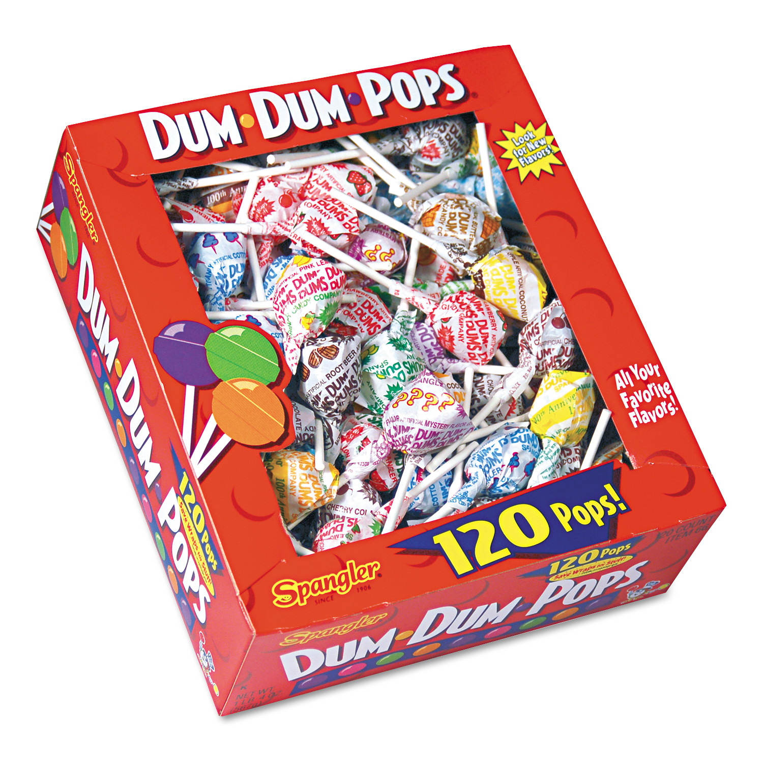 Dum Dums Lollipops, .166 Oz