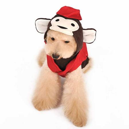Circus Monkey Dog Hoodie Sweatshirt by Dogo - X-Small