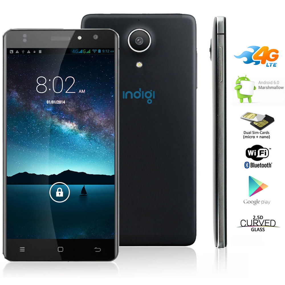 Indigi® NEW 5in 4G Unlocked Android 6.0 Smartphone Cell Phone GPS WiFi AT