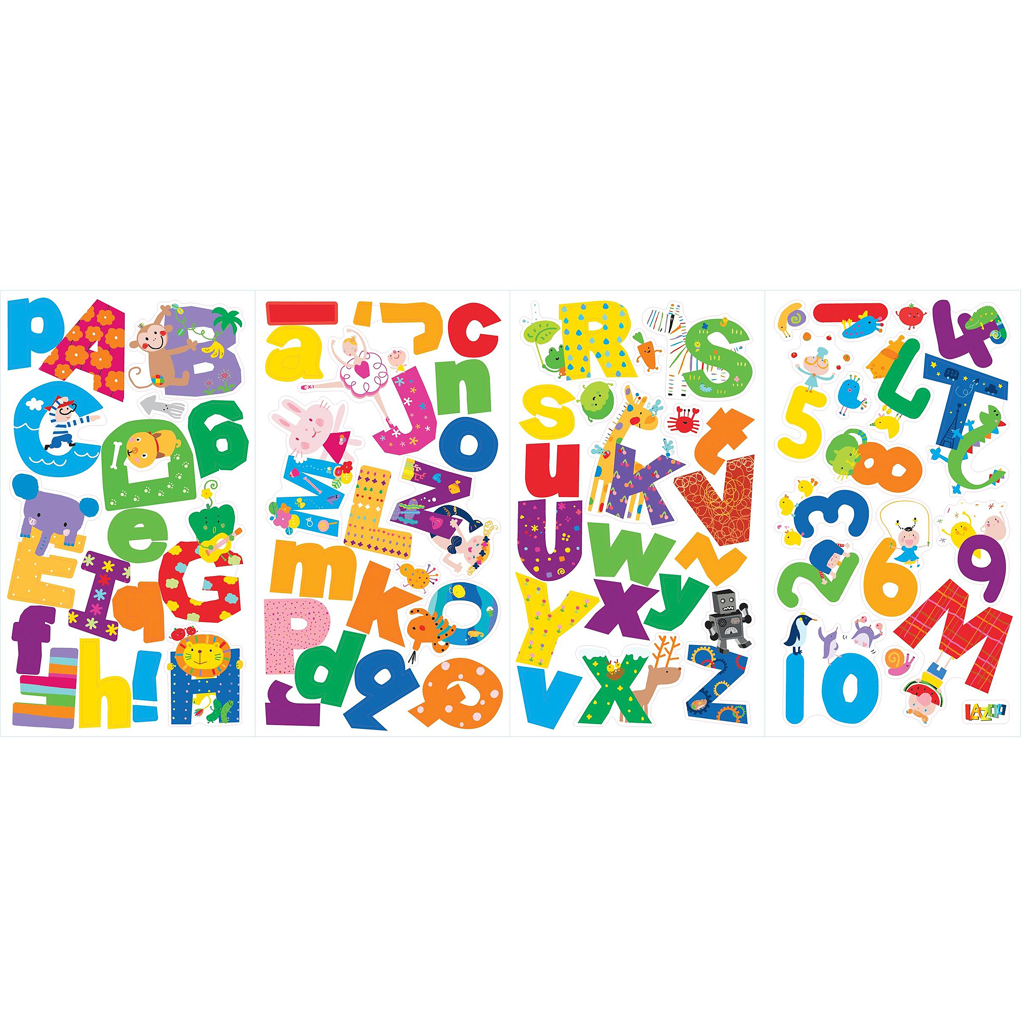 Lazoo Alphabet Peel-and-Stick Wall Decals