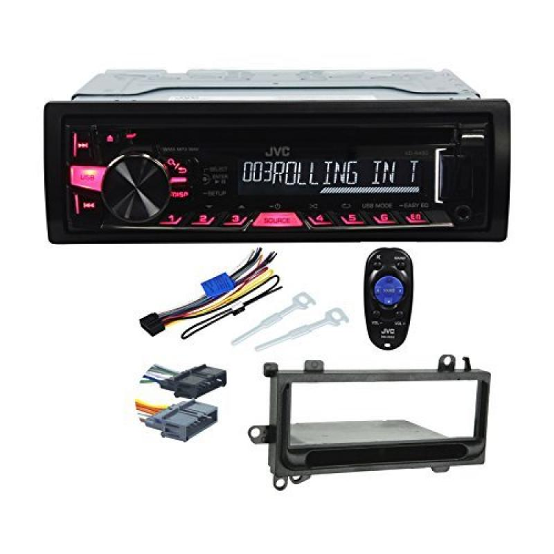 Package: JVC KD-R460 Single DIN CD MP3 Car Stereo Receiver + Metra 99-6000 Jeep In-Dash Cd Player Mounting Kit... by JVC