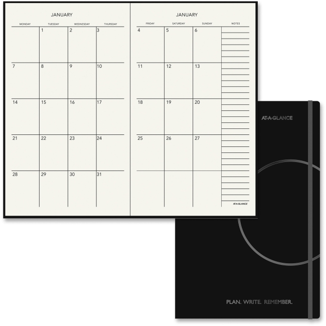 At-A-Glance Monthly Planner, 7 1/2 x 10, Black, 2017 - AAG706S1205