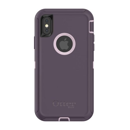 cheap for discount 8a102 72490 OtterBox Defender Series Case & Holster for iPhone X - Purple Nebula  (Certified Refurbished)