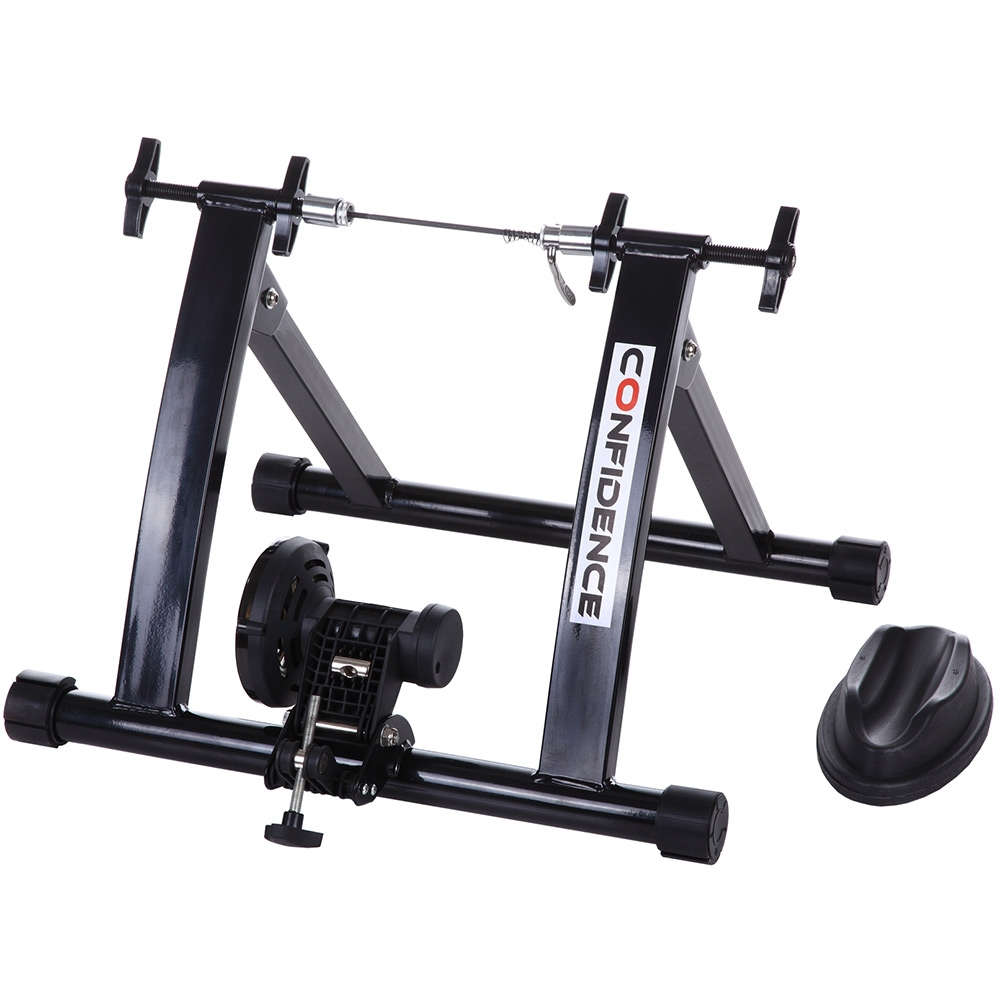Confidence Fitness Indoor Bicycle Exercise Bike Trainer Stand Black