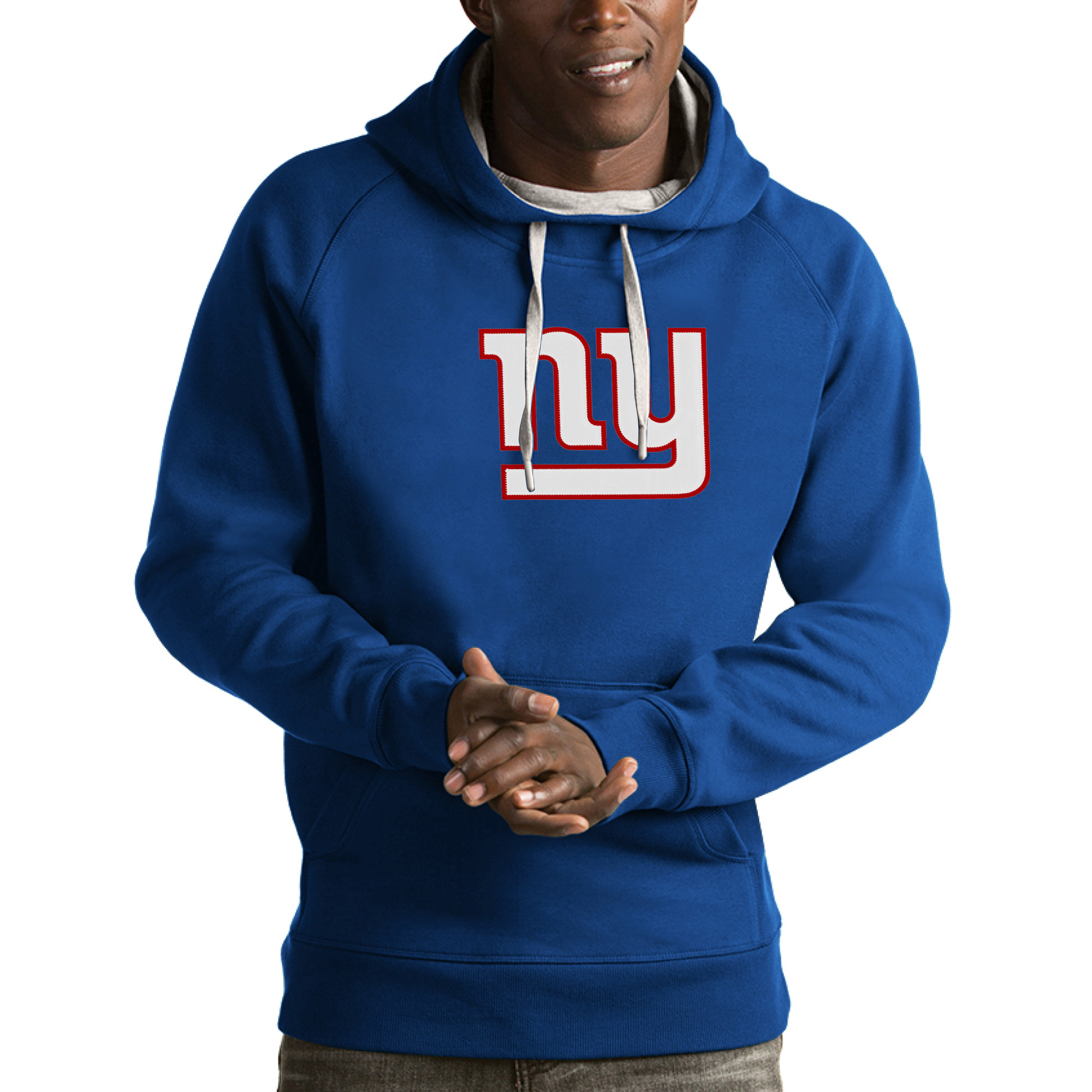 New York Giants Antigua Victory Pullover Hoodie - Royal