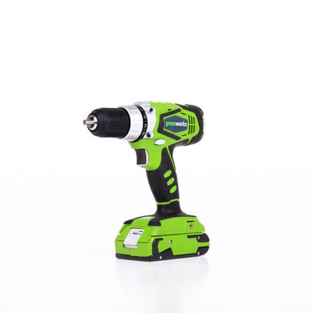 - Greenworks 24V 2-Speed Cordless Compact Drill, Two 2.0 AH Batteries Included 37012B