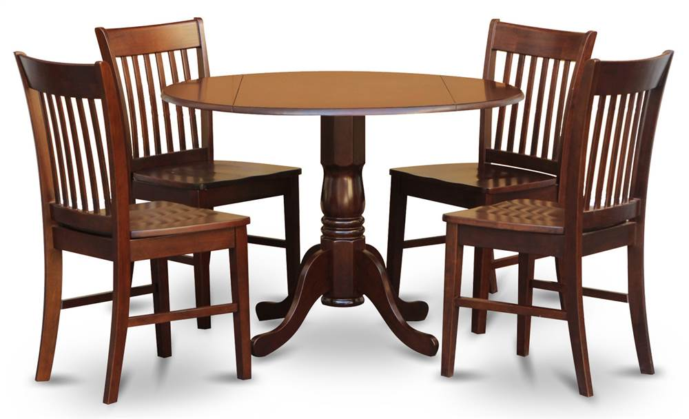 5-Pc Round Dining Room Set by East West Furniture, LLC