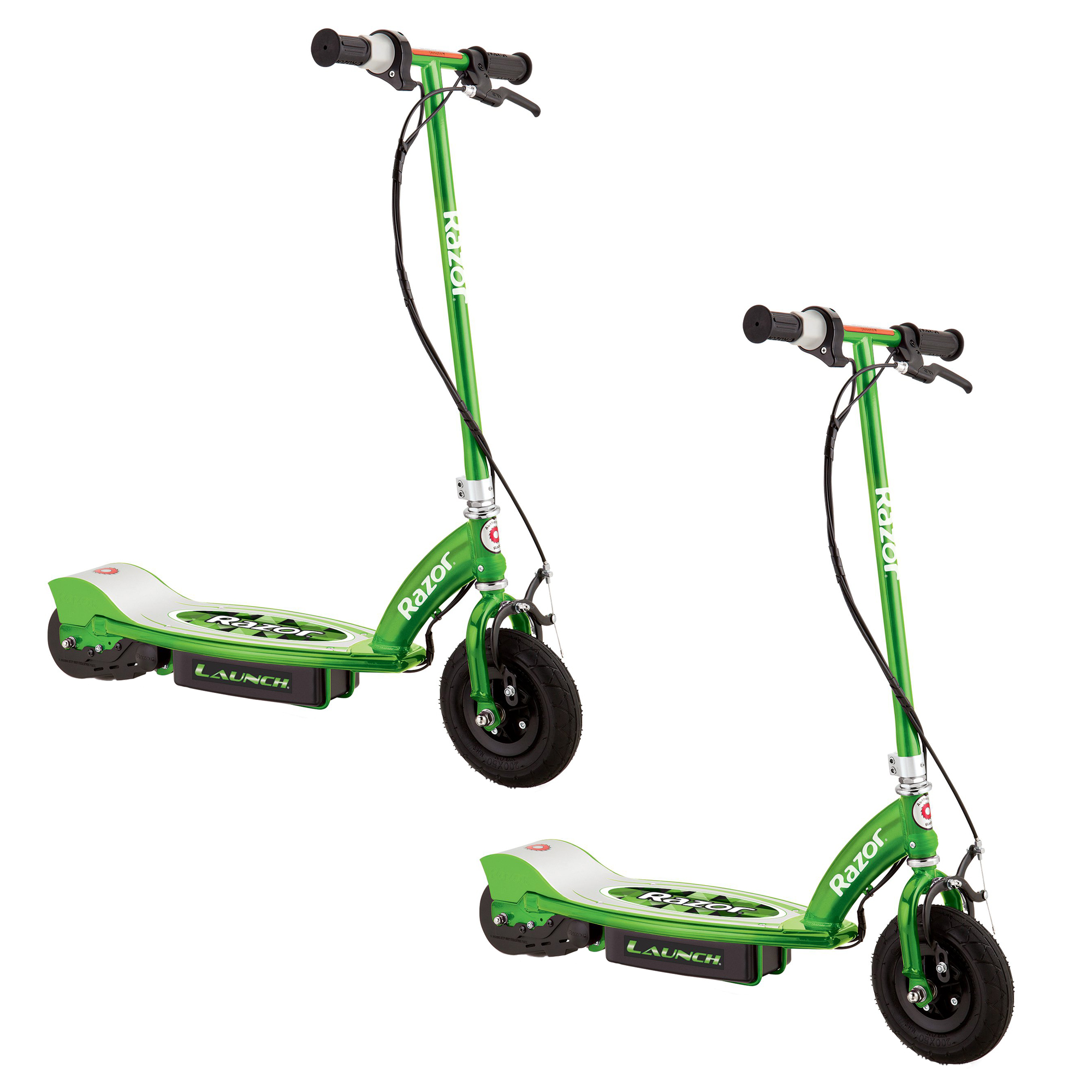 Razor Launch Motorized Rechargeable Electric Power Kids Scooter, Green (2 Pack) by Razor