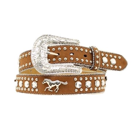 Blazin Roxx Western Belt Womens Horse Crystals Warm Earth N3517244 ()