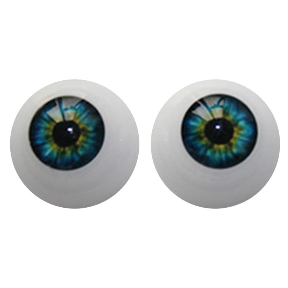 DZT1968 22mm-Reborn-Baby-Dolls-Eyes-Half-Round-Acrylic-Eyes-Brown-for-BJD-OOAK-Doll BU