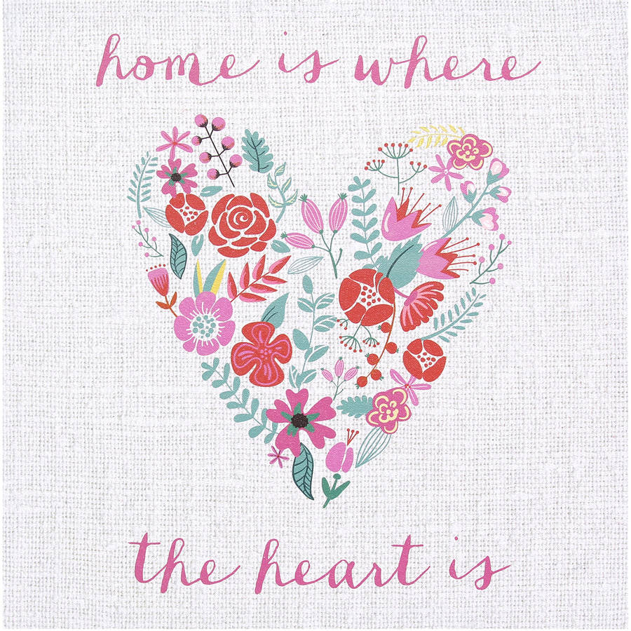"Stratton Home Decor ""Home"" Canvas Wall Art"
