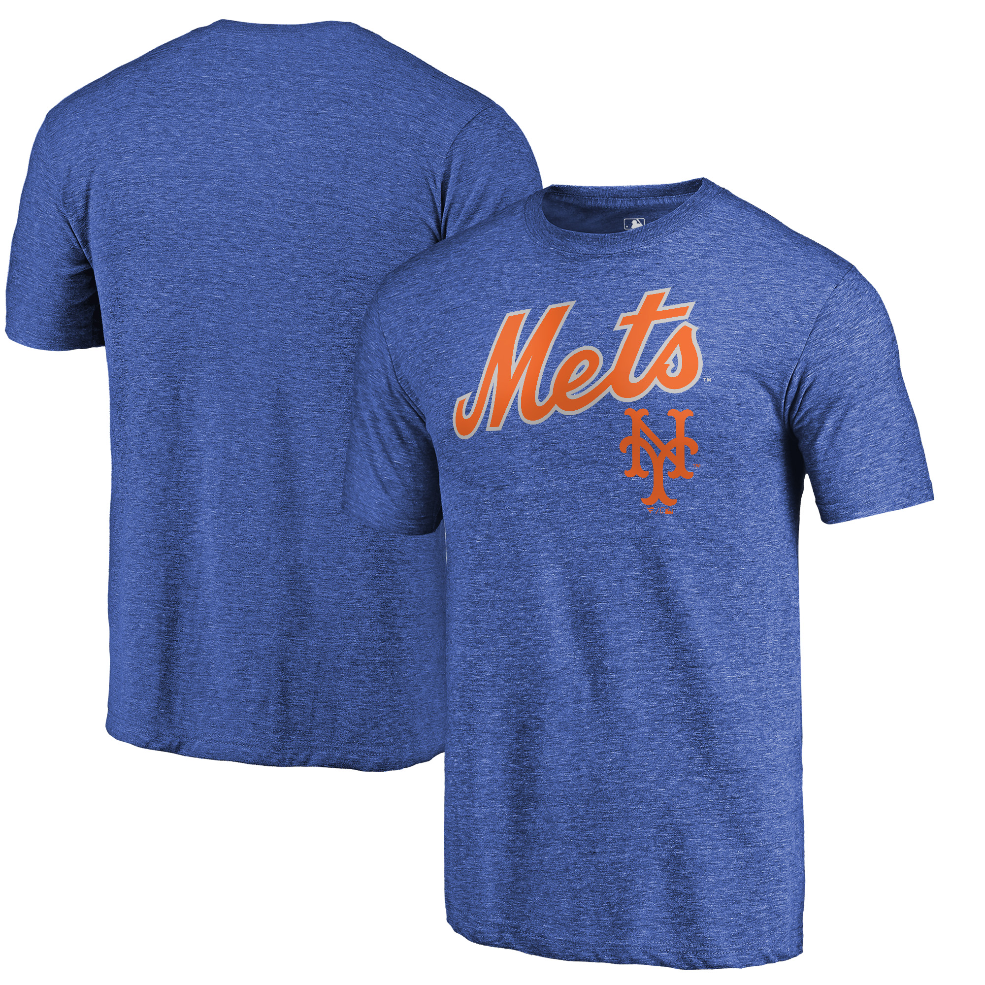New York Mets Fanatics Branded Vintage Cooperstown Collection Wahconah Tri-Blend T-Shirt - Royal