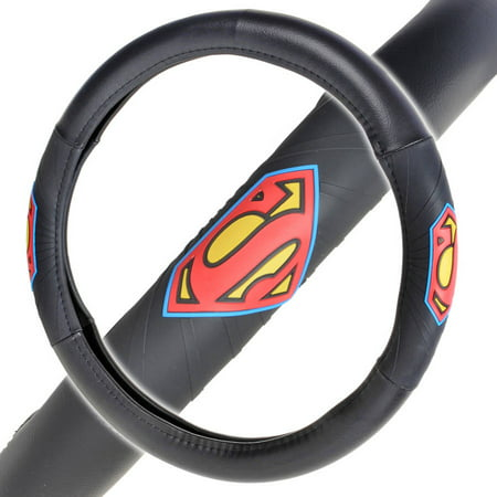 Superman Steering Wheel Cover for Car, Comfort Grip Character Accessories, Standard Size