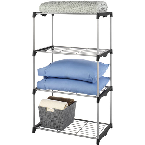 Whitmor 4 Tier Closet Shelves Silver / Black