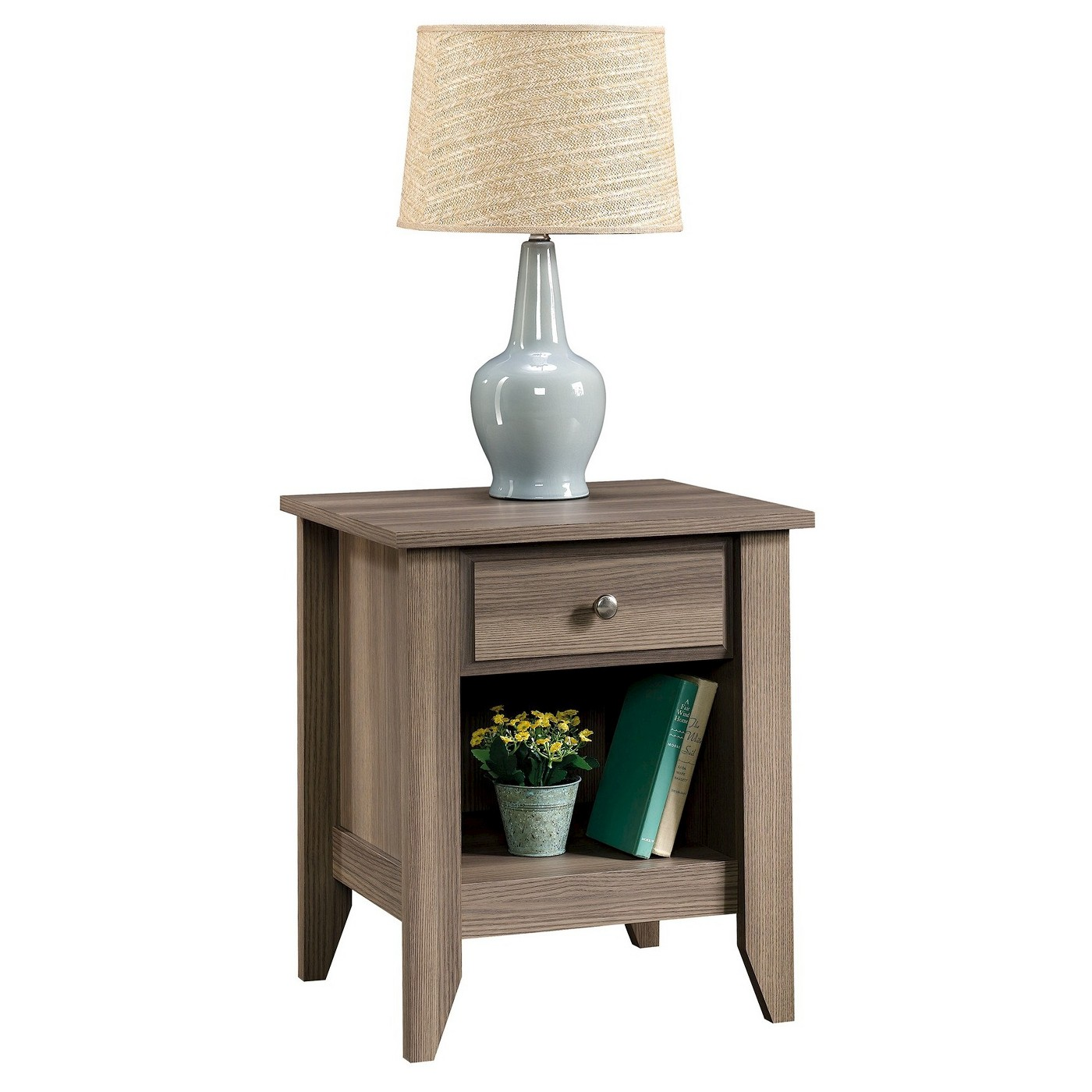 Sauder Shoal Creek Night Stand, Diamond Ash Finish