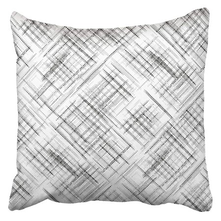 - CMFUN Brush Spotted Grunge Abstract Line Grid Halftone Effect Geometric Bathroom Bead Beauty Pillowcase Cushion Cover 18x18 inch